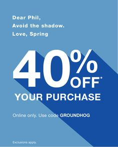 "gap """"Time for a Spring treat (no matter what Phil says)"" Dm Poster, Sale Poster, Sale Banner, Web Banner, Web Design, Layout Design, Email Newsletter Design, Email Design Inspiration, Email Marketing Design"