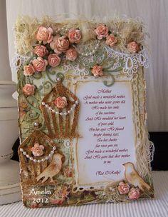 stunning birdcage card