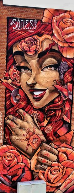 Sofles #girl #graffiti #streetart