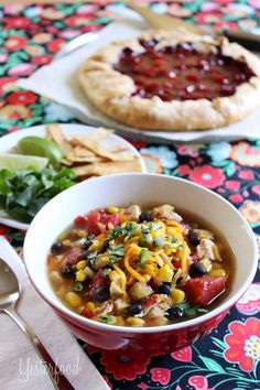 Yesterfood : 5 Minute Chicken Tortilla Soup