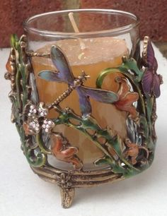 KIRKS FOLLY DRAGONFLY CANDLE/VOTIVE HOLDER