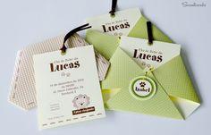 DIY SIMPLES para fazer um LINDO convite chá de bebê