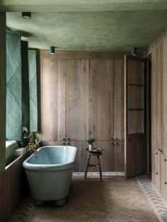 Blue bathtub in a bedroom of our home from the story in out today in New York. Can't wait to receive our copies💥 story by photos by Bathroom Interior, Bathrooms Remodel, Blue Bathtub, Bathroom Decor, Interior, Trendy Bathroom, Bathroom Design, Green Bathroom, Rustic Loft