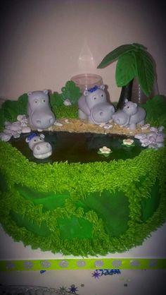 how to make a hippo cake