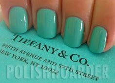 Nfu-Oh #394...better Tiffany blue match than China Glaze's For Audrey & it's officially been ordered! =D
