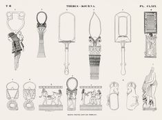 Egyptian Symbols, Ancient Egyptian Art, Monuments, Egypt Jewelry, New York Public Library, Free Illustrations, Art Tutorials, Free Images, Objects