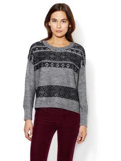 Fair Isle Crewneck Sweater by Avaleigh at Gilt