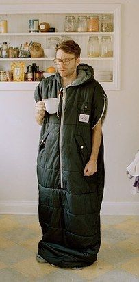 a wearable sleeping bag you can walk around in. YES PLEASE.