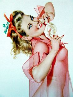 In the pink!...vintage pin-up.