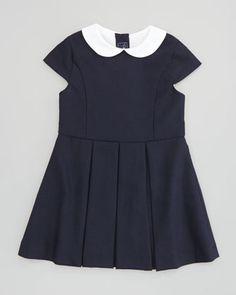 Girls\' Cap-Sleeve Party Dress, Navy  by Oscar de la Renta at Neiman Marcus.