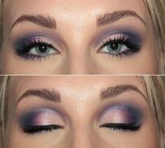 Pink and Plum eyeshadow...pretty
