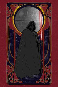 Darth Vader Imperial Art Nouveau By Sebasebi