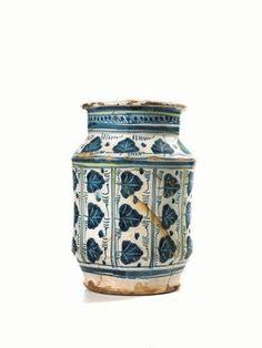 Italian Pottery, Ceramic Art, Flower Pots, Renaissance, Medieval, Tiles, Blue And White, Jar, Hobby