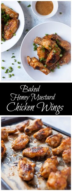 Baked Honey Mustard Chicken Wings recipe - from RecipeGirl.com