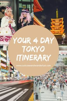 4 Day Itinerary to see Tokyo, Japan