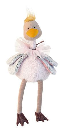 Petulant Petunia is an elegant ostrich with a sparkly pink tulle collar. She is very flexible and can be positioned in different ways. Petunia is ideal as both a decorative item and as a toy. Measurin