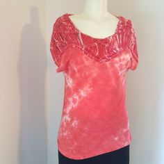 FLASH SALE! Peach tie-dye Top Nwt Tops