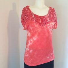 FLASH SALE! Peach tie-dye Top Nwt Tops