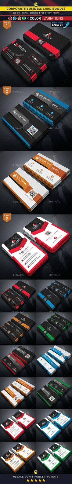 Corporate Business Card Bundle Template #design Buy Now: http://graphicriver.net/item/corporate-business-card-bundle/12780364?ref=ksioks