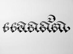 """annatar"" in Thai alphabet Tusk design @anna_annatar #tusk #calligraphy #Annatar"