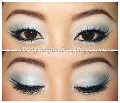 Makeup Look - Frosted Blue