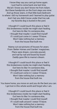 miranda lambert house that built me lyrics The House That Built
