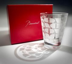 A special glass design by House Industries for Baccarat Crystal.