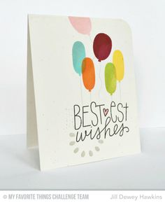 Birthday Wishes & Balloons, Buildable Blooms - Jill Dewey Hawkins   #mftstamps
