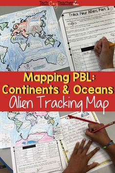 Aliens have landed! Students track aliens across every continent and ocean! This elementary Project Based Learning (PBL) activity assesses your students' knowledge of continents, oceans, and mapping skills in your Social Studies classroom! In this contine Social Studies Classroom, Social Studies Resources, Teaching Social Studies, Teacher Resources, Teaching Ideas, Ocean Activities, Language Activities, Classroom Activities, Christmas Activities