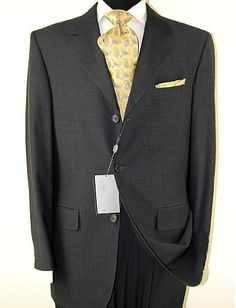 Signature Collection Mens Suit 3 Button Modern Business Fit Charcoal Gray Darya Trading, http://www.amazon.com/dp/B0015ZW214/ref=cm_sw_r_pi_dp_M5fFqb1VJTNZC
