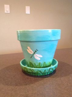 Hand Painted Flower Pot on Etsy, $14.00
