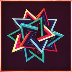 Tetrahedron giclee print by Sam Chivers