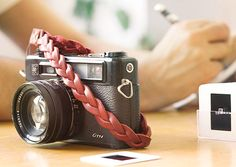 I think I love this camera strap.  Is that silly?   by: Roberu Leather Key & Camera Wrist Strap - Kaufmann Mercantile Store