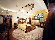 Art Nouveau Style House Villa Liberty Near Moscow, Russia Art Nouveau Bedroom, Art Nouveau Interior, Art Nouveau Furniture, Art Nouveau Architecture, Art Nouveau Design, Interior Architecture, Design Art, Bedroom Art, Bedroom Furniture