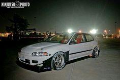 Honda civic eg time attack white love race car osaka jdm