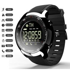 5a5d9716a3b 2019 New Sport Watch Bluetooth Bracelet Fitness Tracker 5ATM IP68 Waterproof  Men Swimming Watch Digital Ultra-long Standby Support Call And SMS Remin