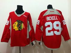 Chicago Blackhawks  29 Bryan Bickell 2014 Training Red Jersey ddc5d1be3