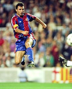 Beckham *wishes* he could bend it like Stoichkov. Hristo made walls irrelevant to free kicks. AND he was a killer striker.