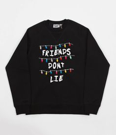 Excited to share the latest addition to my #etsy shop: Black Stranger things inspired 'Friends don't Lie' alphabet Unisex sweatshirt