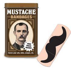 Mustache Bandages haha cool bandages! :)