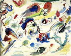 Primeira Aquarela Abstrata (Wassily Kandinsky, 1910)