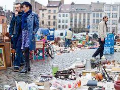 """Place du Jeu de Balle Place du Jeu de Balle/Vossenplein flea market, which was the inspiration for the opening sequence of """"The Secret of the Unicorn. Shop Till You Drop, Brussels, Belgium, The Outsiders, Unicorn, Inspiration, Shopping, Biblical Inspiration, Unicorns"""