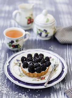 So very pretty.  Blackberry tart
