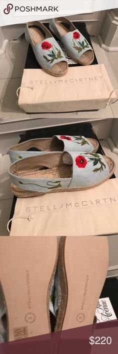 Brand new Stella McCartney slingback espadrilles Brand new Stella McCartney embroidered slingback espadrilles. Never worn. Includes dustbag. These came in a saks box. Stella McCartney Shoes Espadrilles