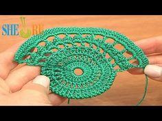 ▶ Crochet Lace Tape Pattern Tutorial 9 Part 1 of 2 Lace Crochet - YouTube