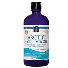 Arctic Cod Liver Oil Lemon, 8 Oz, Nordic Naturals   Free Shipping
