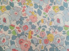 liberty of london - betsy beach - special limited edition print - fat quarter - baby blue