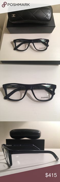 New Chanel dark blue plastic glasses New and never worn. 100% authentic. Comes with case, box, and cleaner. CHANEL Accessories Glasses