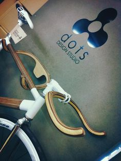 Plywood Bikes, Handlebars and Rack by Dots Design Studio of Thailand.