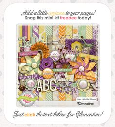 Free Clementine Kit from Tickled Pink Studio {on Facebook}